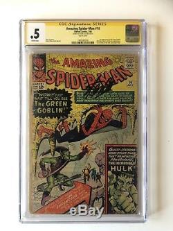 Amazing Spider-man # 14 Cgc. 5 Ss Signe Stan Lee 1er Green Goblin