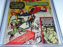 Amazing Spider-man #14 Cgc Ss Signature Autographe Stan Lee 1st Green Goblin Hulk