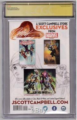 Amazing Spider-man 15 Fer Jane Cgc 9,8 Ss J Scott Campbell Remarque Stan Lee Rare