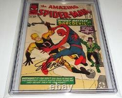 Amazing Spider-man #16 Cgc Ss Signature Autographe Stan Lee 2ème Application Goblin Vert