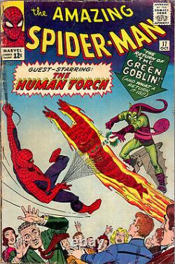Amazing Spider-man #17 Cgc 2.5 2nd Green Goblin App Stan Lee Steve Ditko 1964