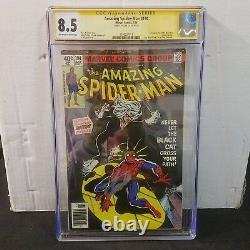 Amazing Spider-man # 194 Cgc 8.5 Ss Signé Stan Lee 1er Black Cat