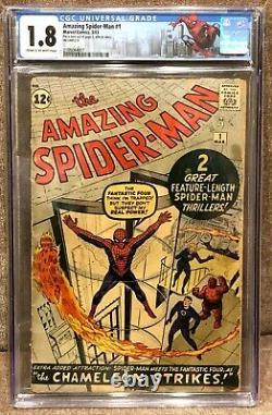 Amazing Spider-man 1 Cgc (1963) Stan Lee/steve Ditko