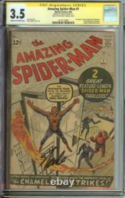 Amazing Spider-man #1 Cgc 3.5 Cr/ow Pages // Signé Par Stan Lee