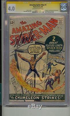 Amazing Spider-man # 1 Cgc 4.0 Ss Stan Lee Signé