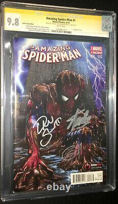 Amazing Spider-man #1 Cgc 9.8 Ss 3x Par Stan Lee, Slott & Horn, Game Stop Variant
