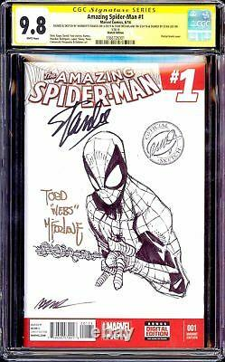 Amazing Spider-man #1 Cgc 9.8 Ss Signé Stan Lee Todd Mcfarlane Original Artwork