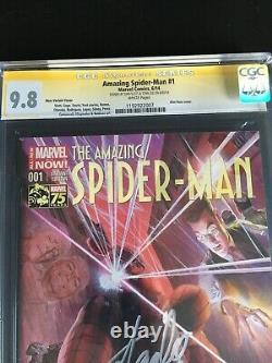 Amazing Spider-man #1 Cgc 9.8 Ss Stan Lee Dan Slott. Alex Ross Variante Pg Blanc