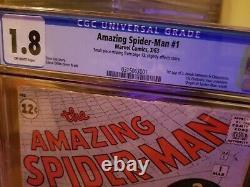 Amazing Spider-man 1 Cgc Grail 1963 Question Clé Merveille Stan Lee Rare