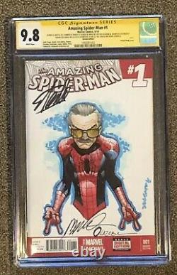 Amazing Spider-man 1 Cgc Ss 9,8 Ss Humberto Ramos Croquis Signé Stan Lee Rare