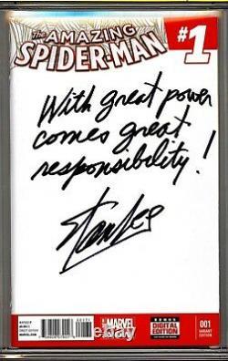 Amazing Spider-man #1 Cgc Ss 9.8 Stan Lee Citation Commentaire Avec Une Grande Puissance Vient