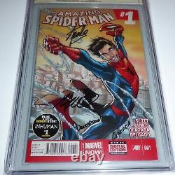 Amazing Spider-man #1 Cgc Ss Signature Autograph Stan Lee Ramos 1ère Variante D