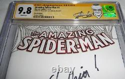 Amazing Spider-man #1 Cgc Ss Signature Autograph Stan Lee Signé Excelsior 9.8