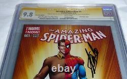 Amazing Spider-man #1 Cgc Ss Signature Autographe Stan Lee C. O. B. R. A. Variante Cvr