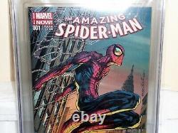 Amazing Spider-man #1 Cgc Ss Signature Autographe Stan Lee Neal Adams Variante