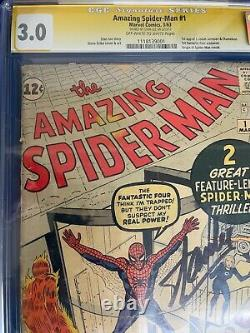 Amazing Spider-man #1 Marvel Silver Age 1963 Cgc 3.0 Signé Par Stan Lee