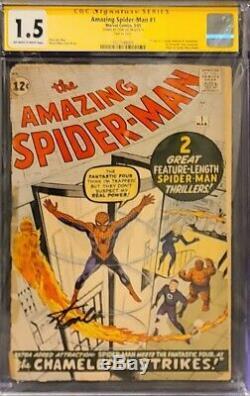 Amazing Spider-man # 1 Série Cgc 1.5 Signature Signé Par Stan Lee! Quelque Chose Qu'il Faut Posséder