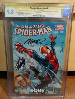 Amazing Spider-man #1 Variante Cgc 9.8 Ss Signé Stan Lee Ramos Delgado Olazaba