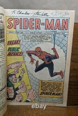 Amazing Spider-man #1 (marvel 1963) Stan Lee Steve Ditko Cgc 5.0 Restauré Signé