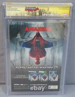 Amazing Spider-man #1 (signé X3 Stan Lee, Skottie Young Variant) Cgc 9.8 2014