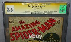 Amazing Spider-man #1 (stan Lee Signé, Chameleon 1ère Application) Cgc 2.5 Marvel 1963
