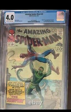 Amazing Spider-man #20 Cgc 4.0 Marvel 1966 1ère Apparition De Scorpion Stan Lee