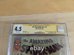 Amazing Spider-man #20 Cgc 4.5 Signé Par Stan Lee
