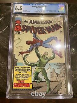 Amazing Spider-man 20 Cgc 6.5 Origin & 1er Scorpion Steve Ditko Stan Lee