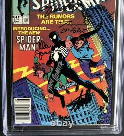 Amazing Spider-man #252 5x Signé Cgc 9.8 Ss Stan Lee Romita Janson & Plus