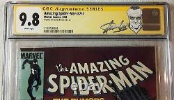 Amazing Spider-man #252 Cgc 9.8 Wp Signé Stan Lee