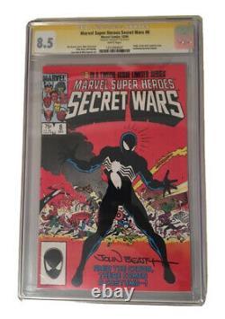 Amazing Spider-man 252 Cgc Ss 9.2 Signé Stan Lee Kiosque À Journaux Premier Costume Noir