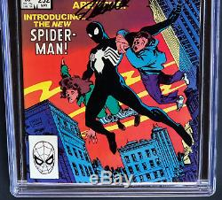 Amazing Spider-man # 252 Signé Par Stan Lee Cgc 9,8 Ss 1er Venom Costume Noir