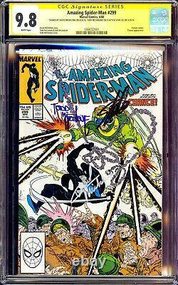 Amazing Spider-man #299 Cgc 9.8 Ss 3x Signe Stan Lee Todd Mcfarlane Michelinie Nm
