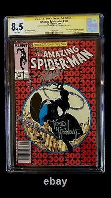 Amazing Spider-man # 300 Cgc 8.5 Ss Signé Stan Lee Mcfarlane 1er Venom Kiosque À Journaux