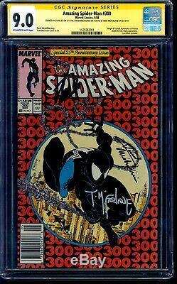 Amazing Spider-man 300 Cgc 9.0 Ss 3x Signé Par Stan Lee Todd Mcfarlane Kiosque À Journaux