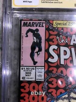 Amazing Spider-man # 300 Cgc 9.4 Kiosque Stan Lee Signé 1er Venomasm # 300