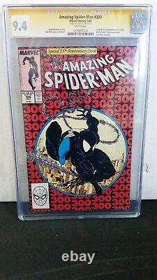 Amazing Spider-man # 300 Cgc 9.4 Ss Signé Stan Lee 1er Complet Venom Eddie Brock