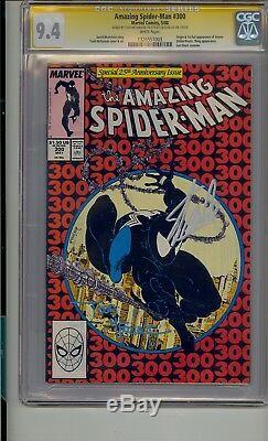 Amazing Spider-man # 300 Cgc 9.4 Ss Signé Stan Lee Et Todd Mcfarlane Venom