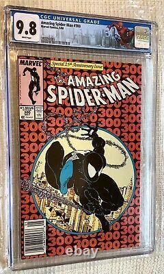 Amazing Spider-man # 300 Cgc 9.8 Stan Lee, Todd Mcfarlane 1er Venom, Kiosque À Journaux