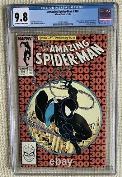 Amazing Spider-man # 300 Cgc 9.8 Stan Lee, Todd Mcfarlane 1er Venom Super Key 252