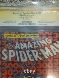 Amazing Spider-man #300 Cgc Ss 7.0 Signé Par Stan Lee Bd 1988 1er Venin