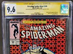 Amazing Spider-man # 300 Cgc Ss 9.6 Signé 2x Stan Lee Mcfarlane 1er Venom App