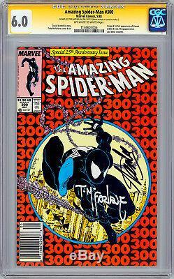 Amazing Spider-man # 300 Cgc-ss 6.0 Signé Par Todd Mcfarlane Et Stan Lee 1988