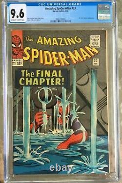 Amazing Spider-man #33 (1966) Cgc 9.6 - O/w To White Pgs Stan Lee Steve Ditko