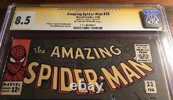 Amazing Spider-man #33 Signé Par Stan Lee Cgc Classé 8.5 Marvel Comic Ditko