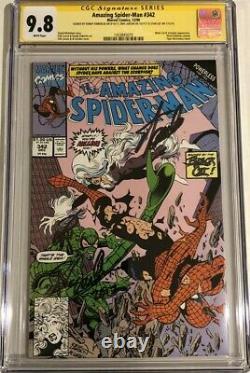 Amazing Spider-man #342 Cgc 9.8 Ss 3x Signé Stan Lee, Emberlin, & Larsen Wp Cat