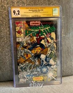 Amazing Spider-man 360 Cgc 9.2 3x Signé Stan Lee Bagley 1er Carnage Cameo Venom