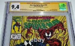 Amazing Spider-man #362 2x Signature Cgc Ss 9.4 Stan Lee & Mark Bagley Carnage