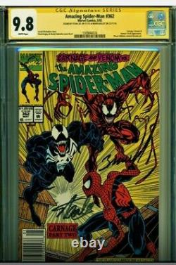 Amazing Spider-man #362 Cgc 9.8 Double Signed By Stan Lee & M Bagley! Kiosque