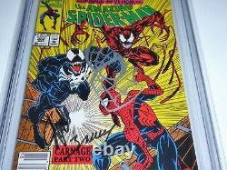 Amazing Spider-man #362 Cgc Ss Signature Autographe Stan Lee Mark Bagley Carnage